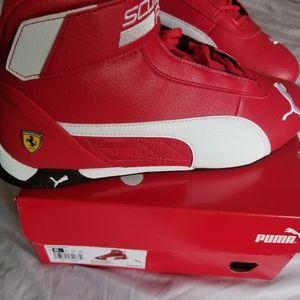Red Puma never worn with the original box